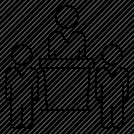 Debate, desk, podium, speaker, speech icon - Download on Iconfinder