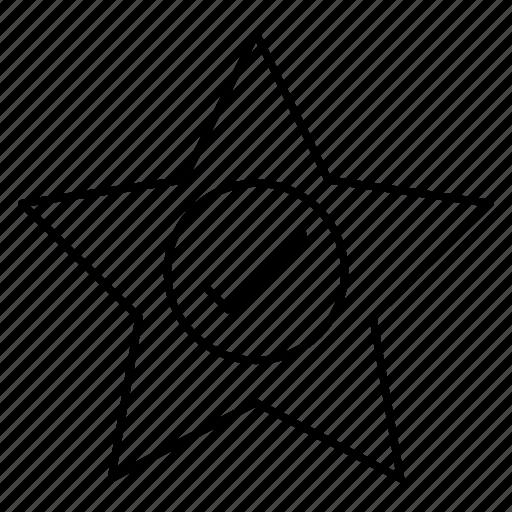 achievement, check, grade, star, tick icon