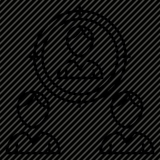 account, aim, focus, profile, target icon