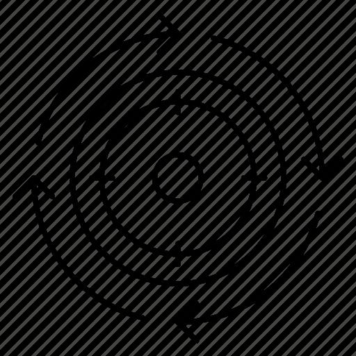Aim, goal, target, success, focus icon