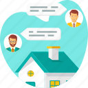 chat, home, house, online, property, realestate icon