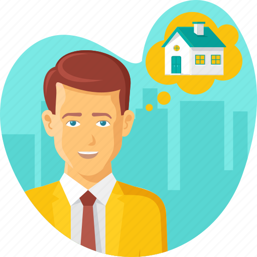 Building, buyer, buying, dream home, home, house, thinking icon - Download on Iconfinder