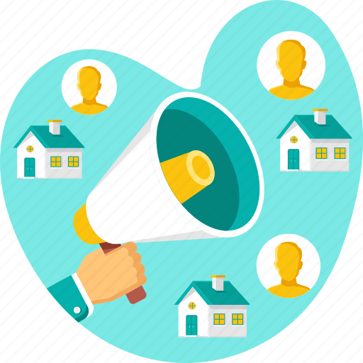 advertisement, announcement, business, marketing, people, property icon
