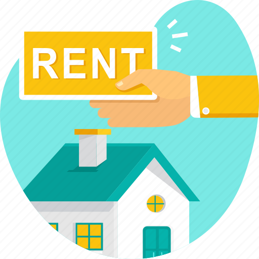 estate, hand, home, house, property, real, rent icon