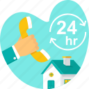 call, home, open, phone, property, real estate, service icon