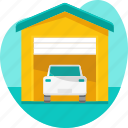 car, garage, park, parked, vehicle icon