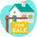 home, house, property, real estate, sale, sign icon