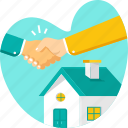 agreement, buy, deal, home, house, investment, property icon