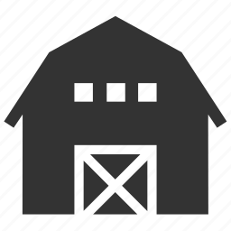 barn, country house, farm, farm stay, property, silo, village icon