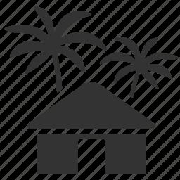 estate, hotel, hut, resort, tropical, vacation home, villa icon
