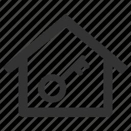 estate, home, house, key, lock, property, rental icon