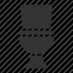bathroom, john, latrine, lavatory, restroom, toilet, wc icon