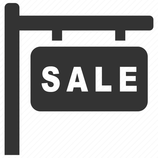estate, property, real, sale, sell, signboard, signs icon