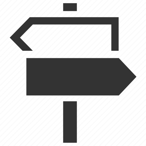 arrows, choices, direction, directions, route, routes, sign icon