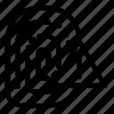 alert, fingerprint icon