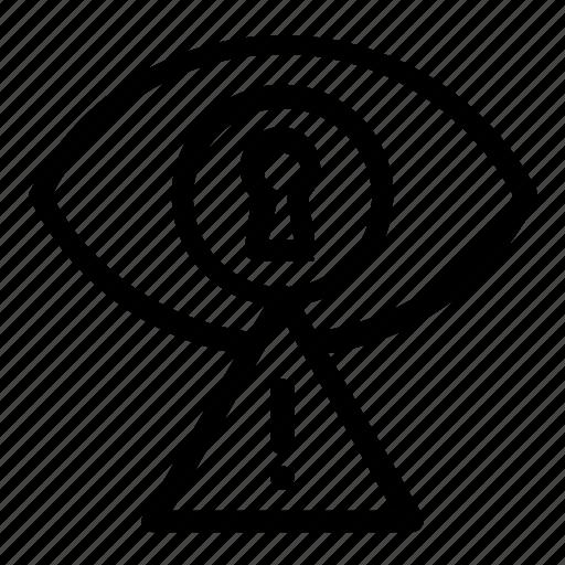 alert, password, visibility icon