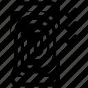 fingerprint, password, smartphone icon