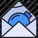 email, bomb, malware, spam, virus