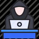hacker, crime, laptop, people, avatar