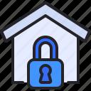 home, locked, property, secure, padlock