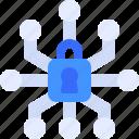 padlock, network, secure, security, locked