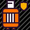 cylinder, gas, shield icon