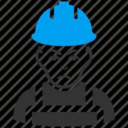 business man, engineer, mechanic, sad, serviceman, work, worker icon