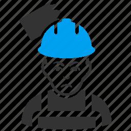 builder, danger, helmet, protection, safety, strike, worker icon