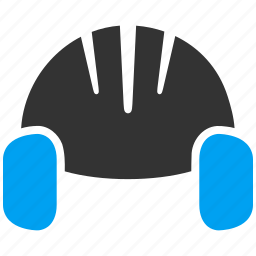 hat, helmet, industrial, noise, protection, safety, sound icon