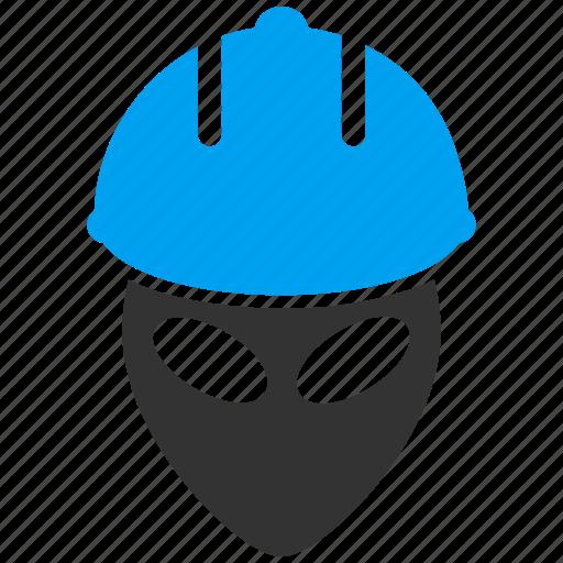 alien worker, engineer, futuristic, job, mechanic, serviceman, work icon