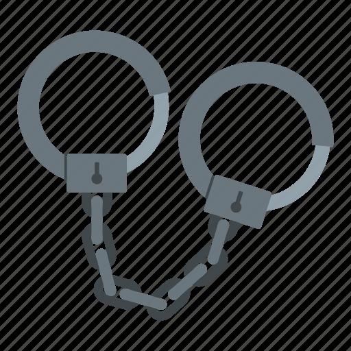 chain, concept, handcuff, justice, legal, lock, police icon