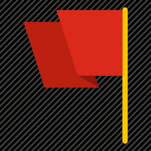 flag, flagpole, label, mark, promotion, stop, white icon