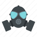danger, gas, mask, protection, protective, safety, toxic icon