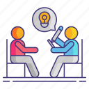 consultation, discussion, session, theraphy icon