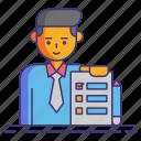 daily, list, tasks icon