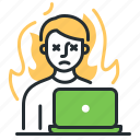 emotional burnout, exhaustion, psychology, work icon