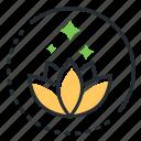 harmony, lotus, meditation, psychology icon