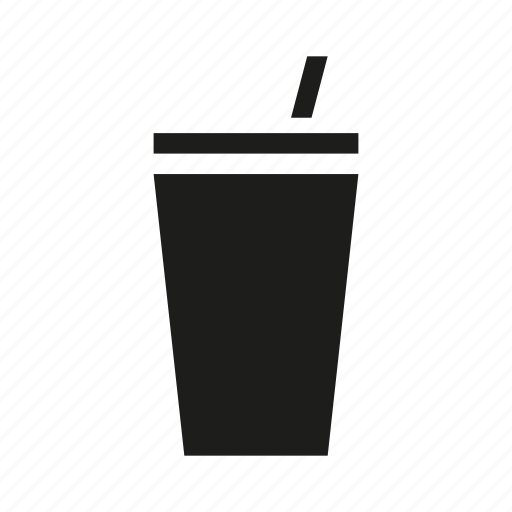 beverage, cup, drink, juice, soda, straw icon