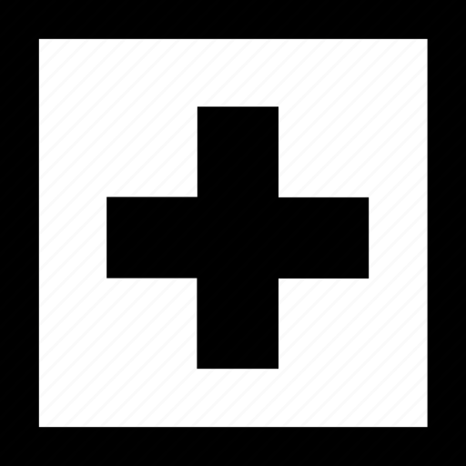 first aid, medical, public sign, sign icon