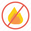 fire, flame, no, not allowed, probihited, sign, warning icon