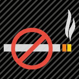 cigarette, forbidden, no, prohibited, smoking, warning icon