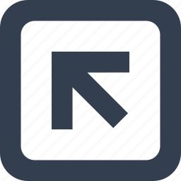 arrow, directional, frame, left, public, signs icon