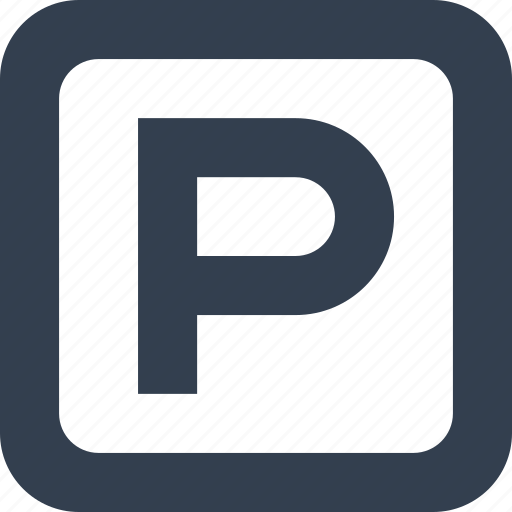 letter, parking, public, signs icon