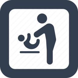 baby, bathroom, changing, child, children, public, signs, toilet icon