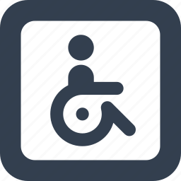disable, handicap, healhcare, man, people, person, public, signs, wheelchair icon