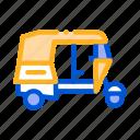 public, rickshaw, transport icon