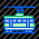 public, tramway, transport icon