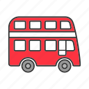 automobile, bus, decker, double decker, transport, vehicle icon