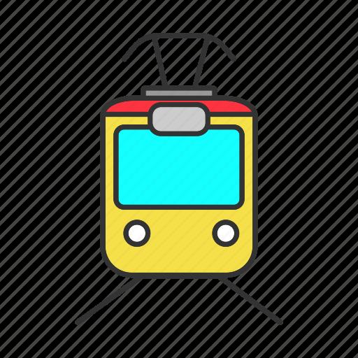 railway, streetcar, tram, tramcar, transport, trolley, vehicle icon