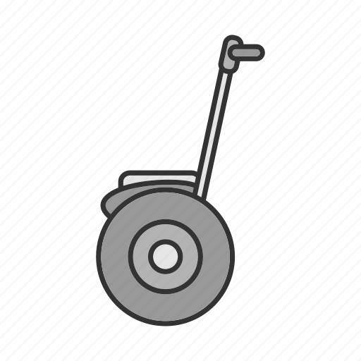 scooter, segue, segway, self-balancing, transport, two-wheeled, vehicle icon